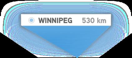 Winnipeg - 530km